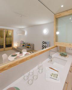 Reforma interior de vivienda en Badalona. Cuina i Sala